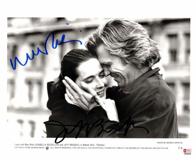 Jeff Bridges & Isabella Rossellini - autogram