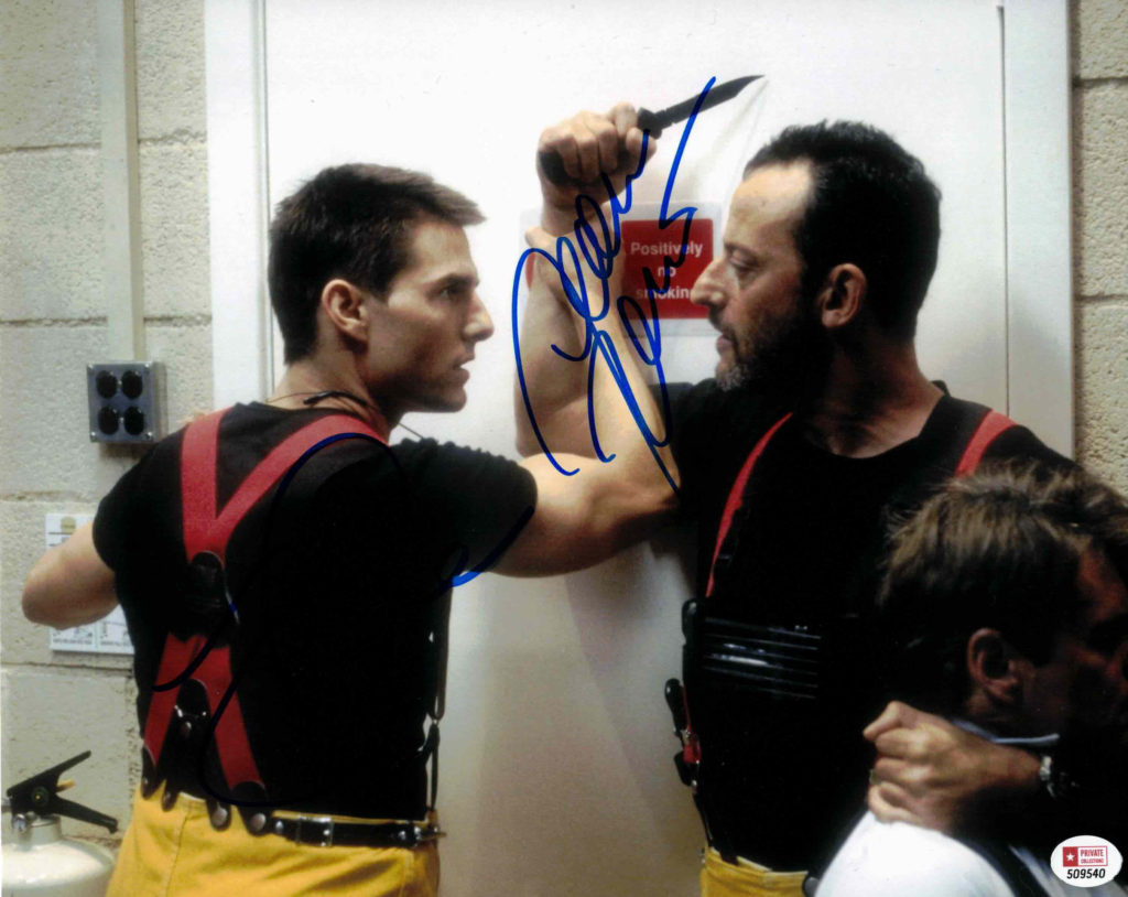 Jean Reno & Tom Cruise - autogram
