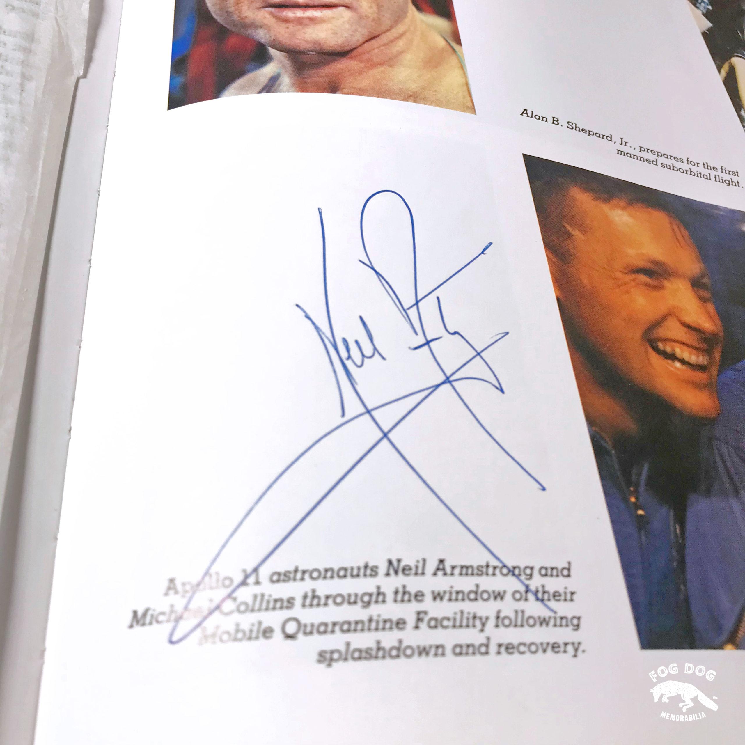 Autogram / Neil Armstrong - 1. člověk na Měsíci