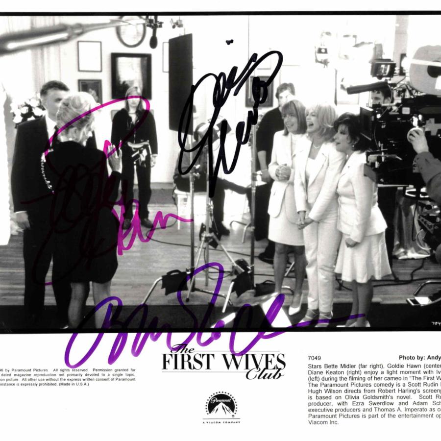 Bette Midler, Goldie Hawn & Diane Keaton - autogram
