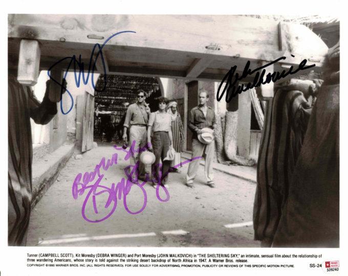 John Malowich, Debra Winger & Campbell Scott - autogram