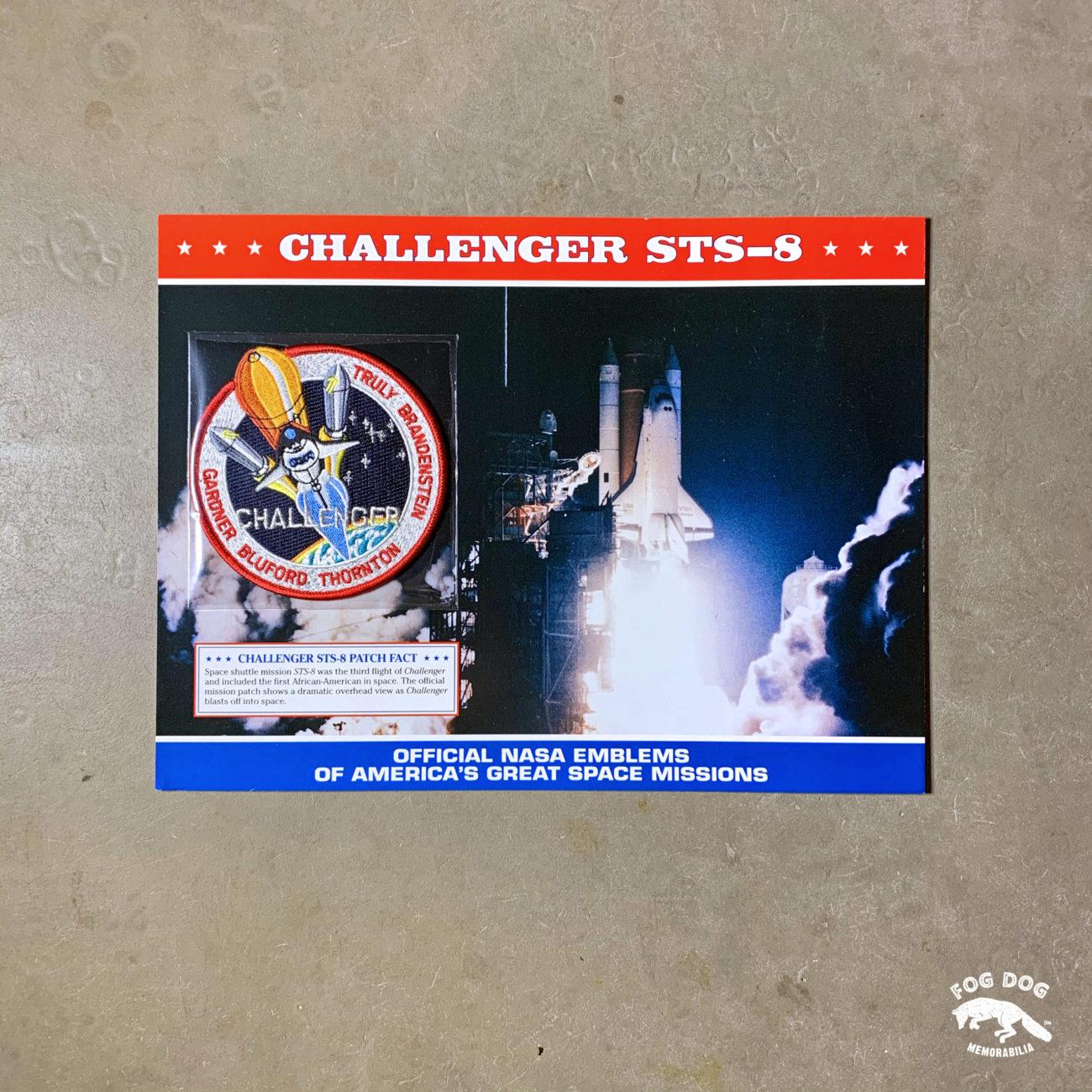 Oficiální textilní nášivka NASA - CHALLENGER STS-8