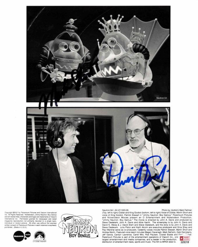 Patrick Stewart & Martin Short - autogram