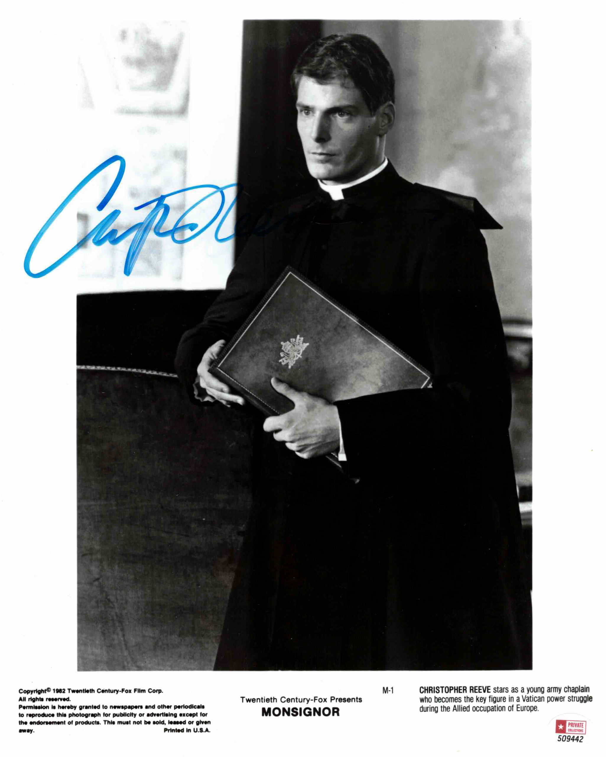 Christopher Reeve - autogram