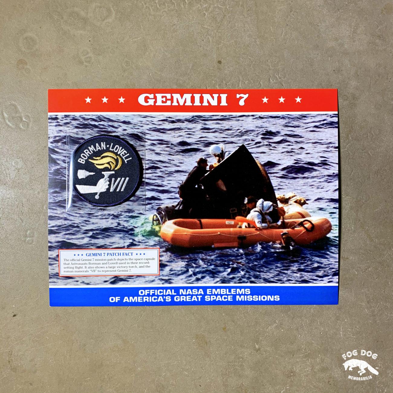 Oficiální textilní nášivka NASA - GEMINI 7