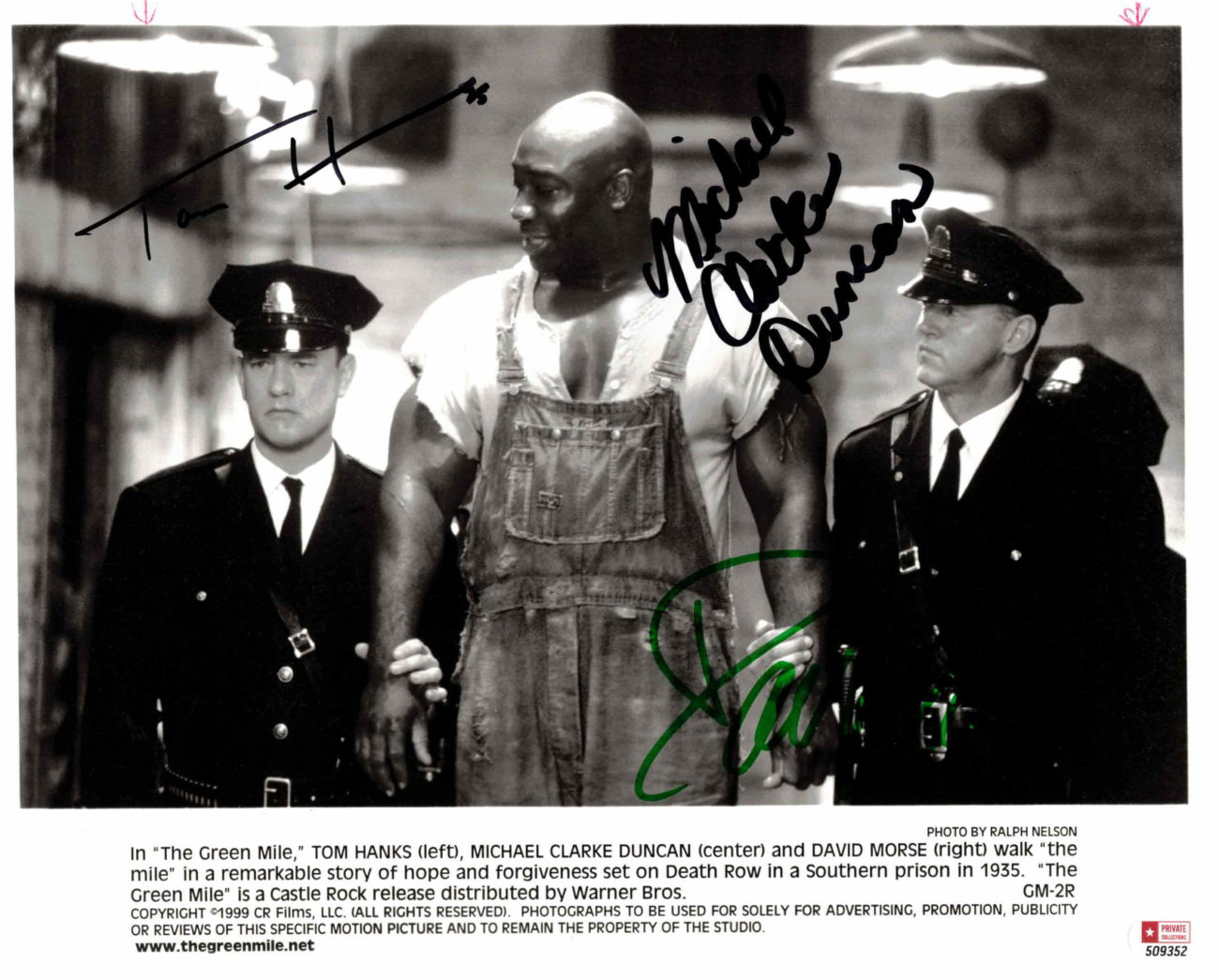 Tom Hanks, David Morse & Michale C. Duncan / Green Mile - autogram