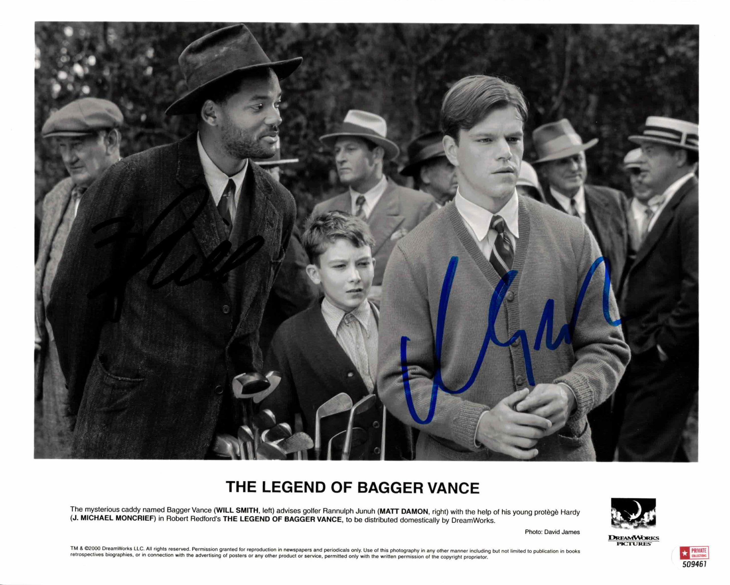 Will Smith & Matt Damon - autogram