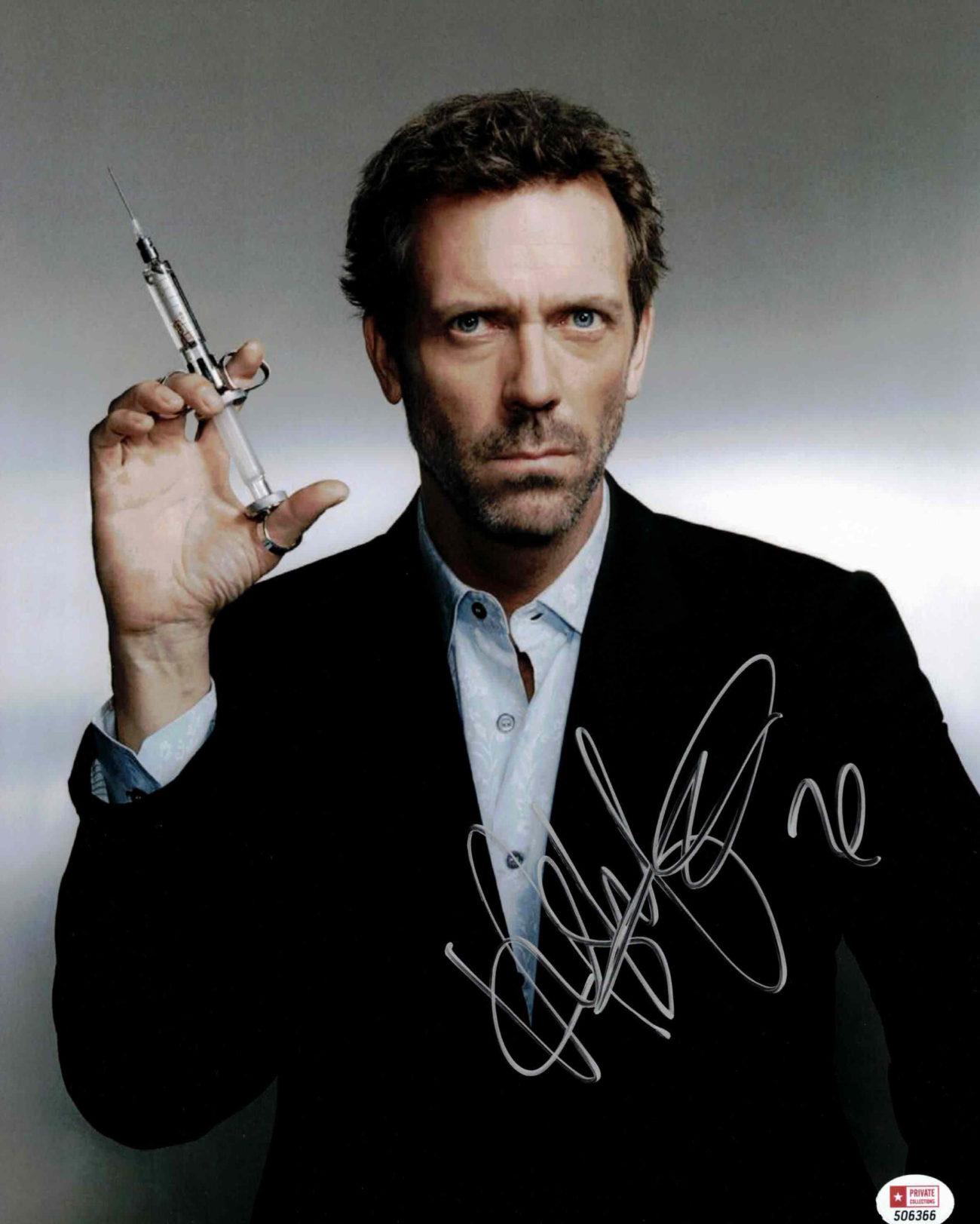 Hugh Laurie / Dr. House - autogram