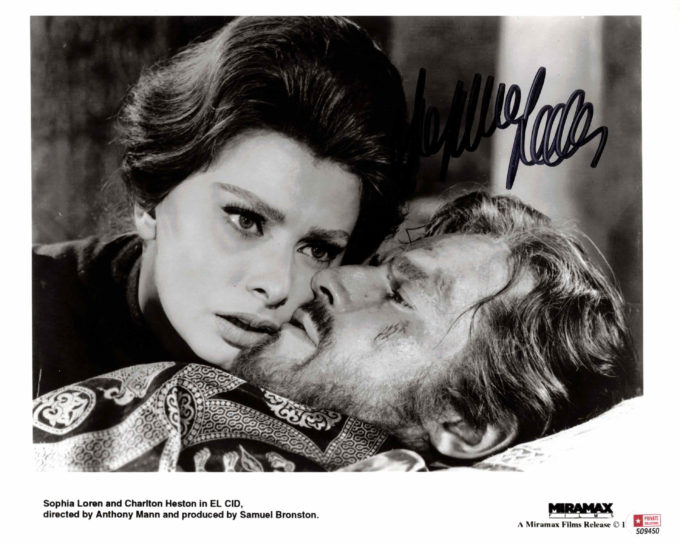Sophia Loren - autogram