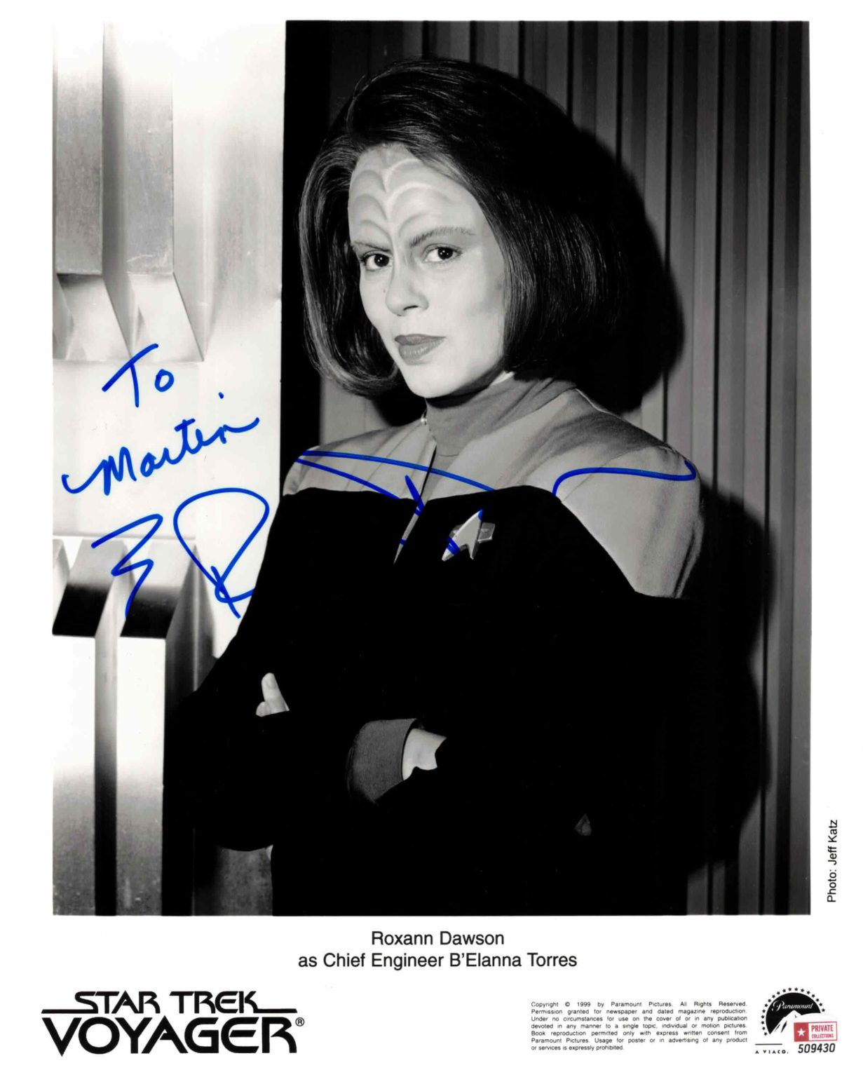 Roxann Dawson / Star Trek - autogram