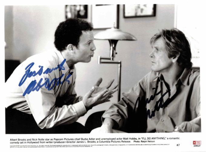 Nick Nolte & Albert Brooks - autogram