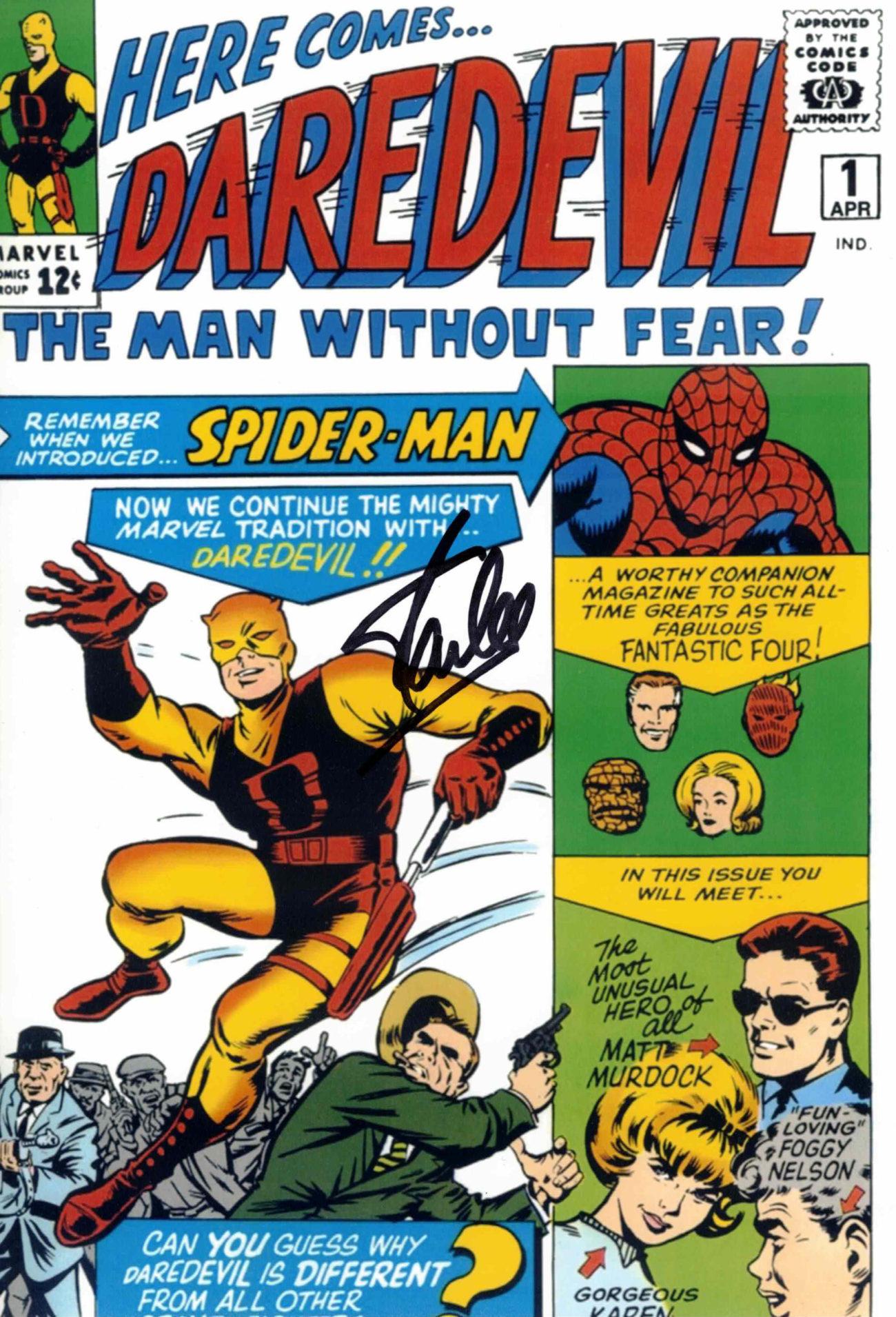 Stan Lee / DAREDEVIL, fotografie - autogram