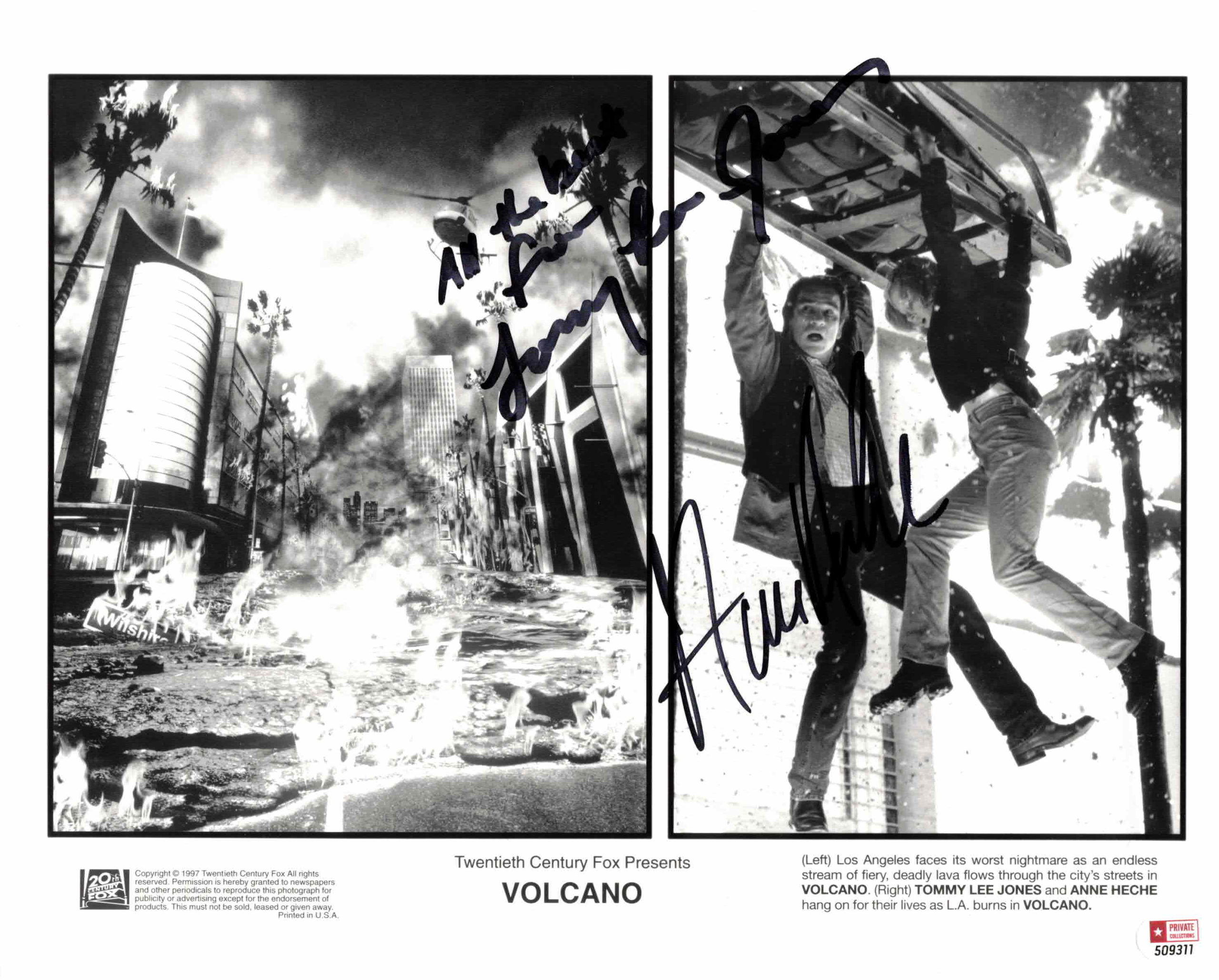 Tommy Lee Jones & Anne Heche - autogram