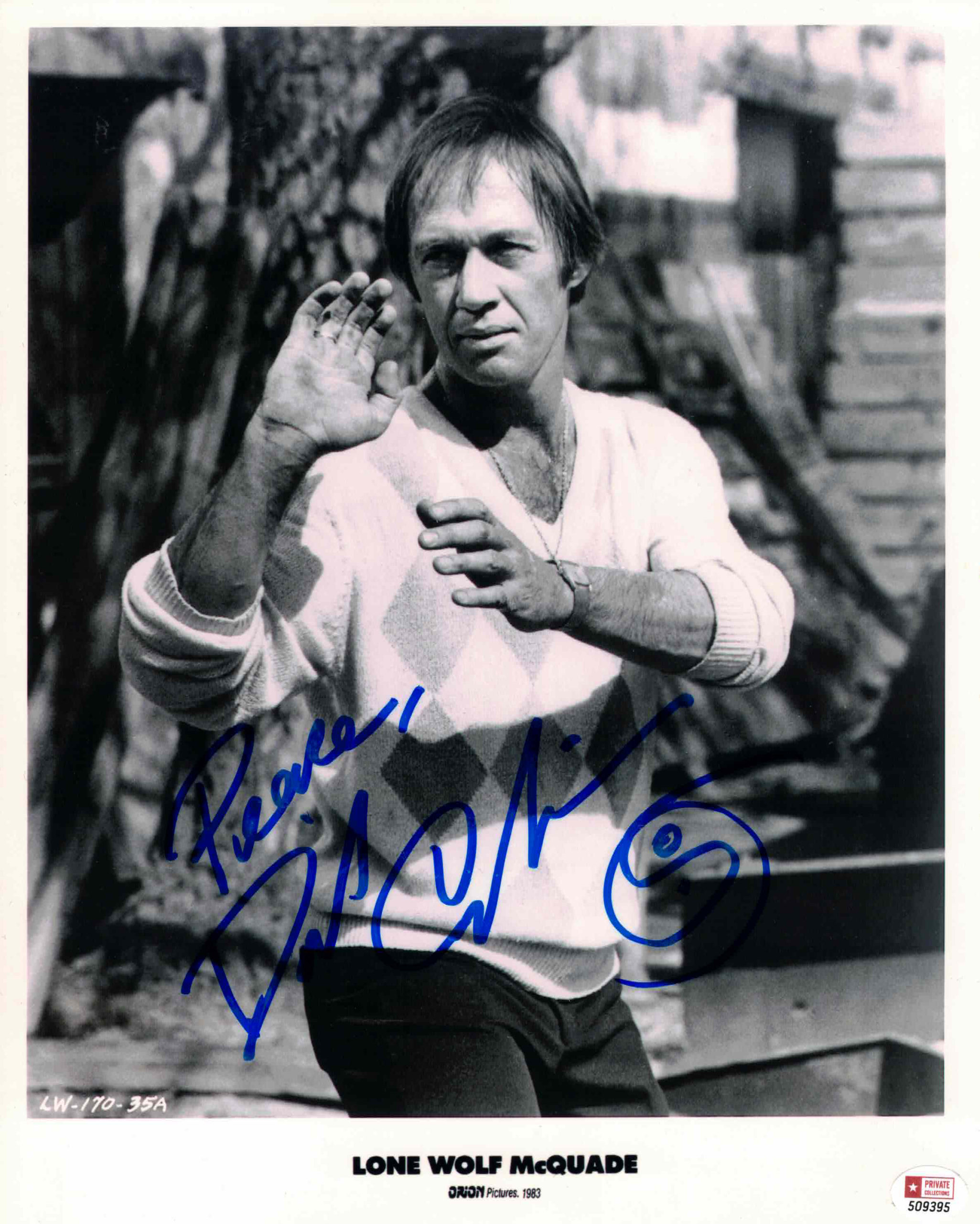 David Carradine - autogram