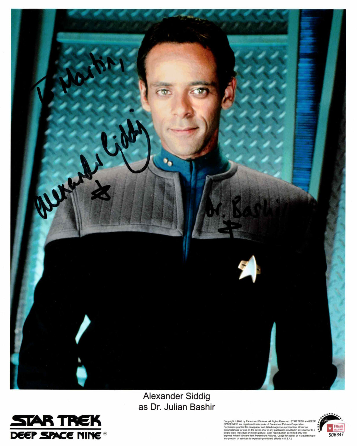 Alexander Siddig / Star Trek - autogram