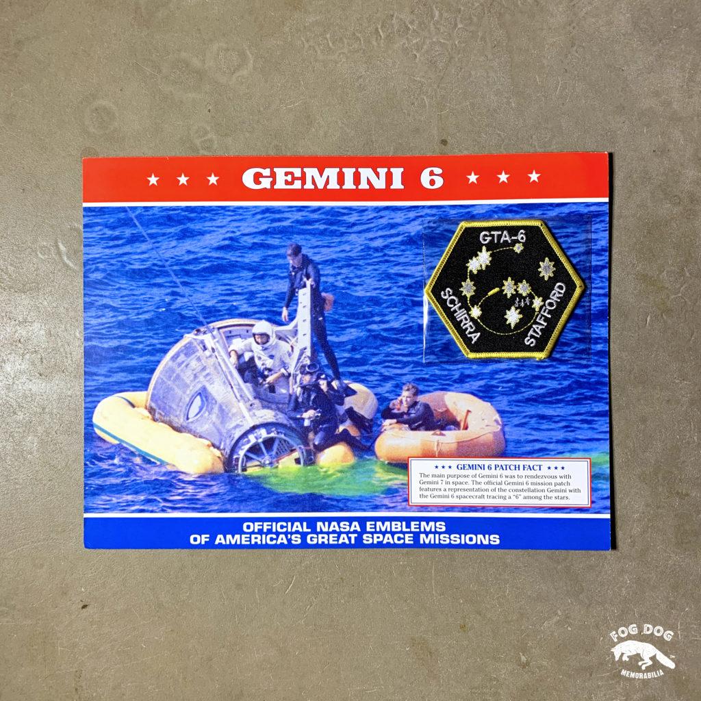 Oficiální textilní nášivka NASA - GEMINI 6