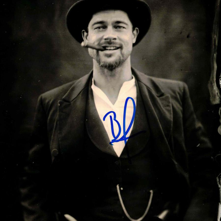 Brad Pitt - autogram