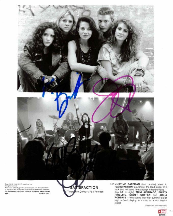 Julia Roberts, Justine Bateman & Britta Phillips - autogram