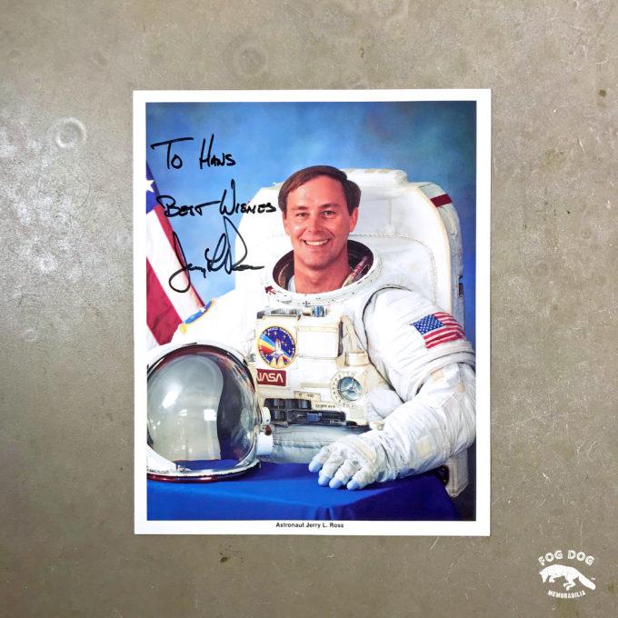 Autogram / astronaut Jerry Lynn Ross