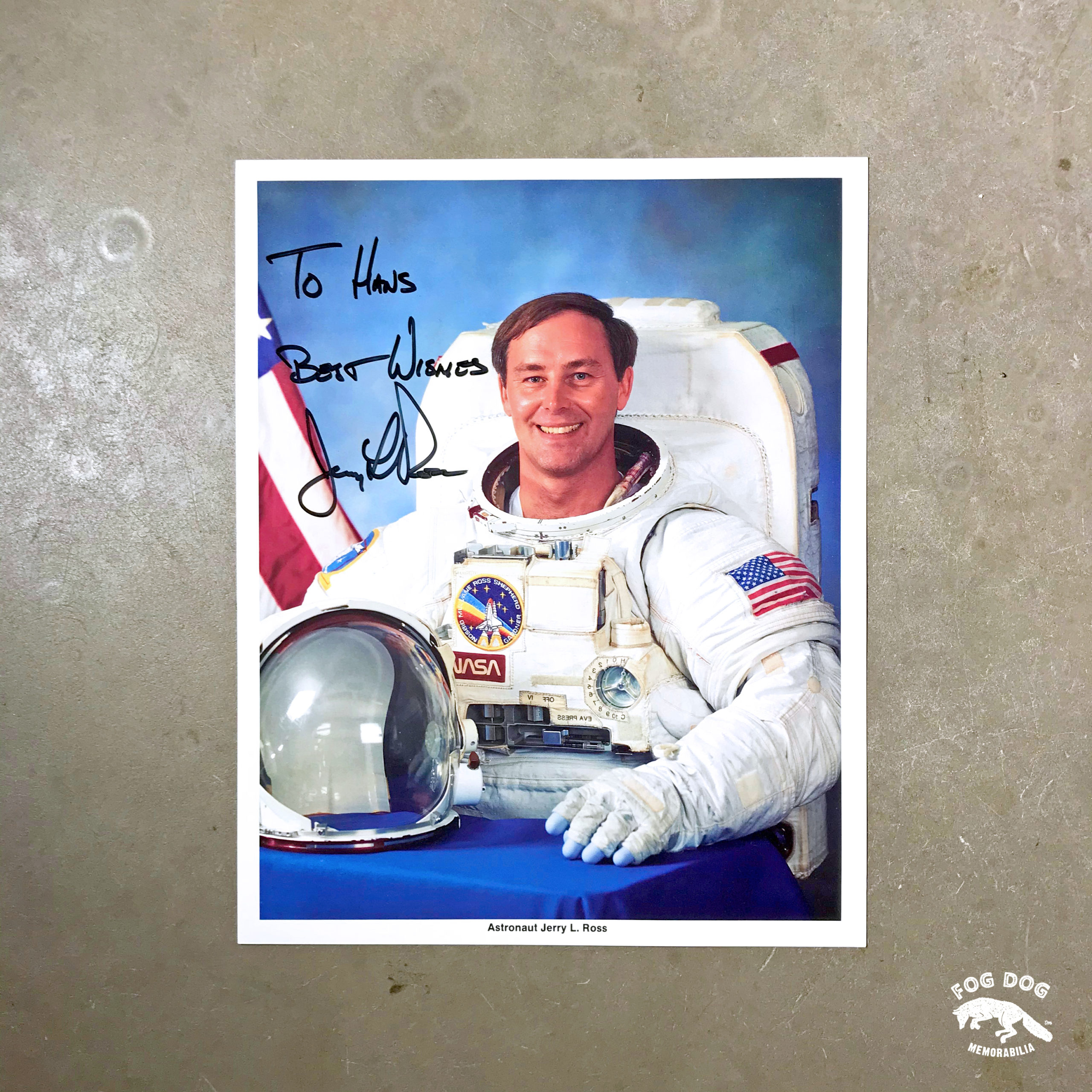 Autogram / astronaut Jerry Lynn Ross