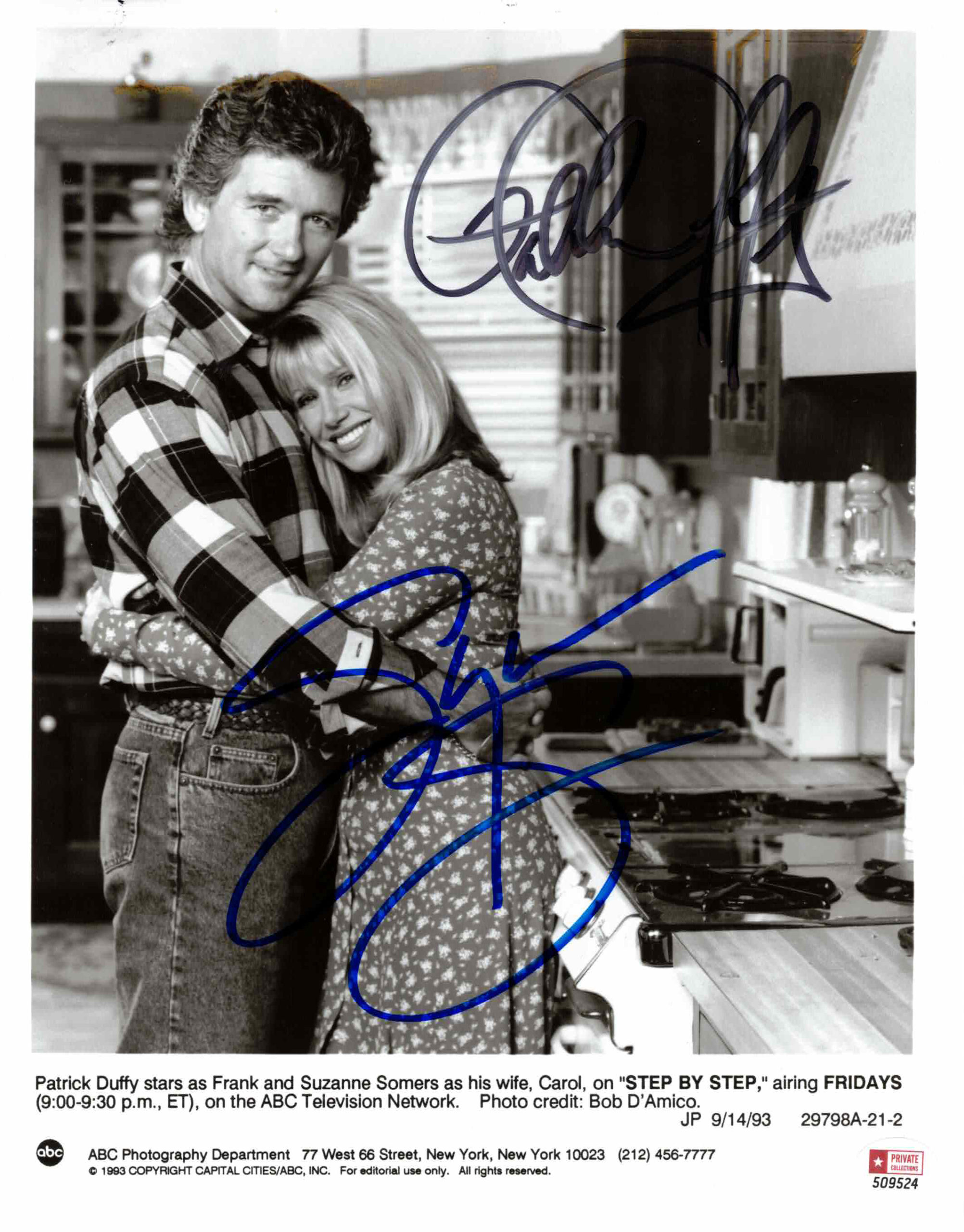 Suzanne Sommers & Patrick Duffy - autogram