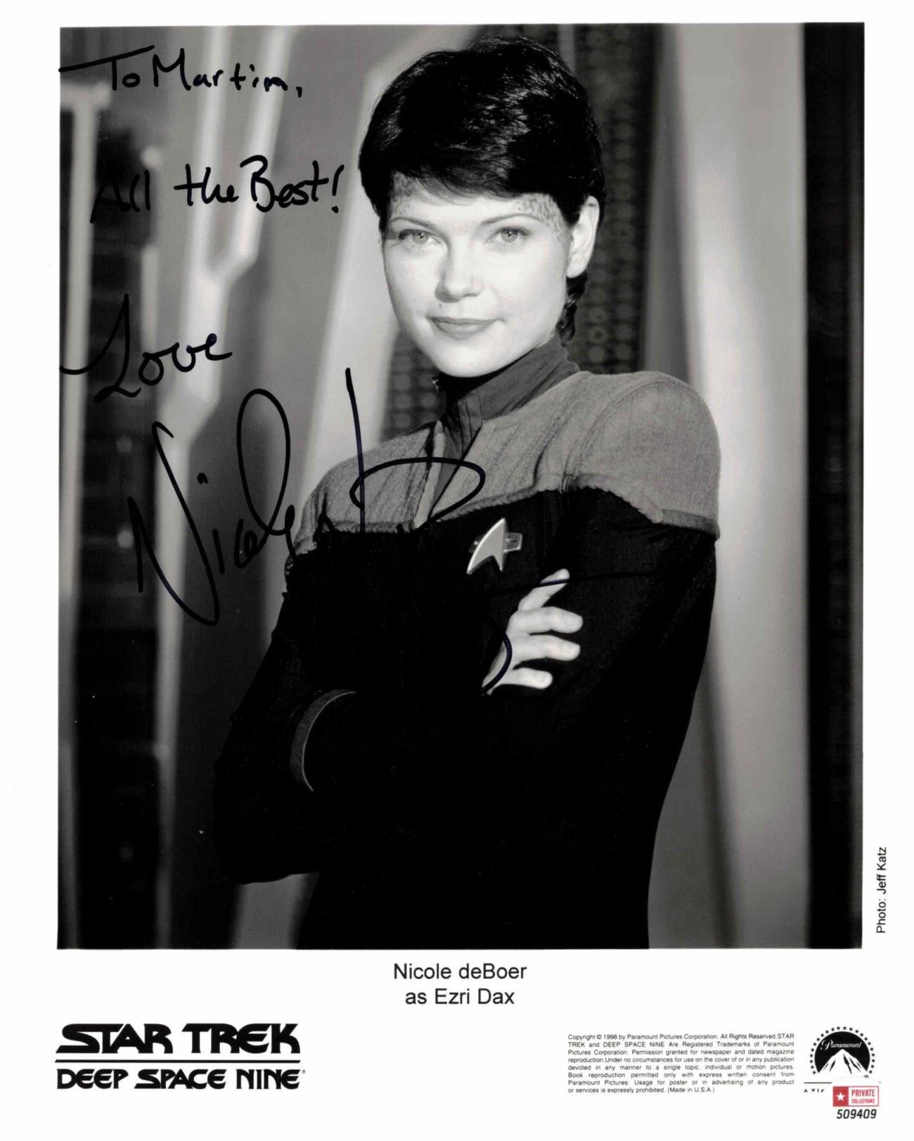 Nicole de Boer / Star Trek - autogram