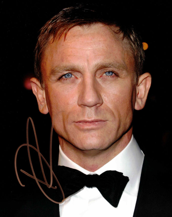 Daniel Craig / James Bond - autogram