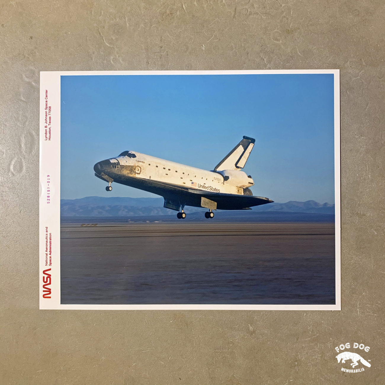 Oficiální fotografie NASA, číslovaná (1989)