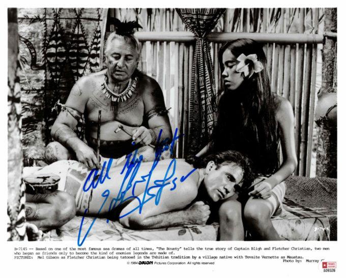 Mel Gibson - autogram