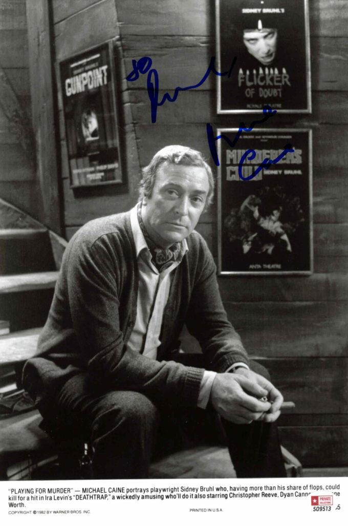 Michael Caine - autogram