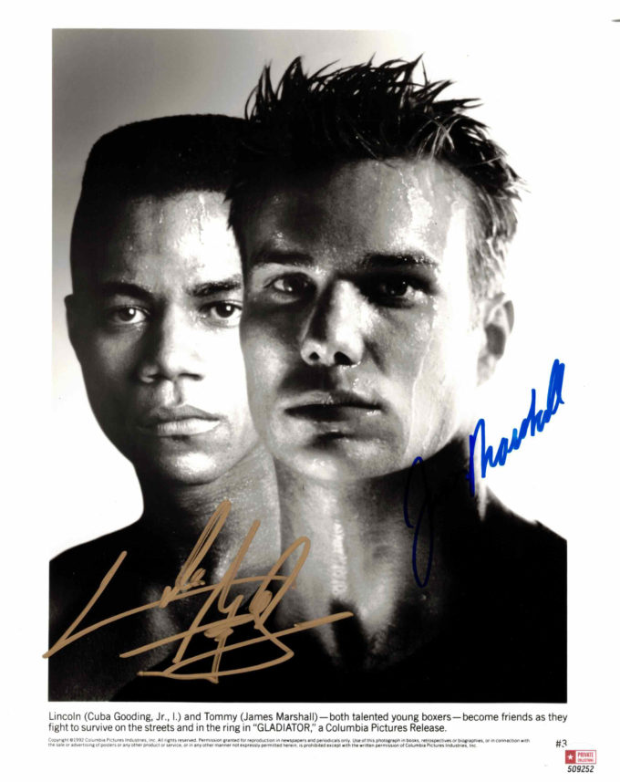 Cuba Gooding Jr. & James Marshall - autogram