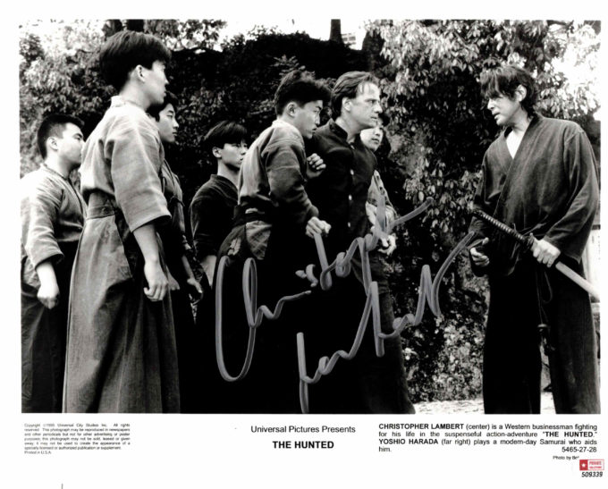 Christopher Lambert - autogram
