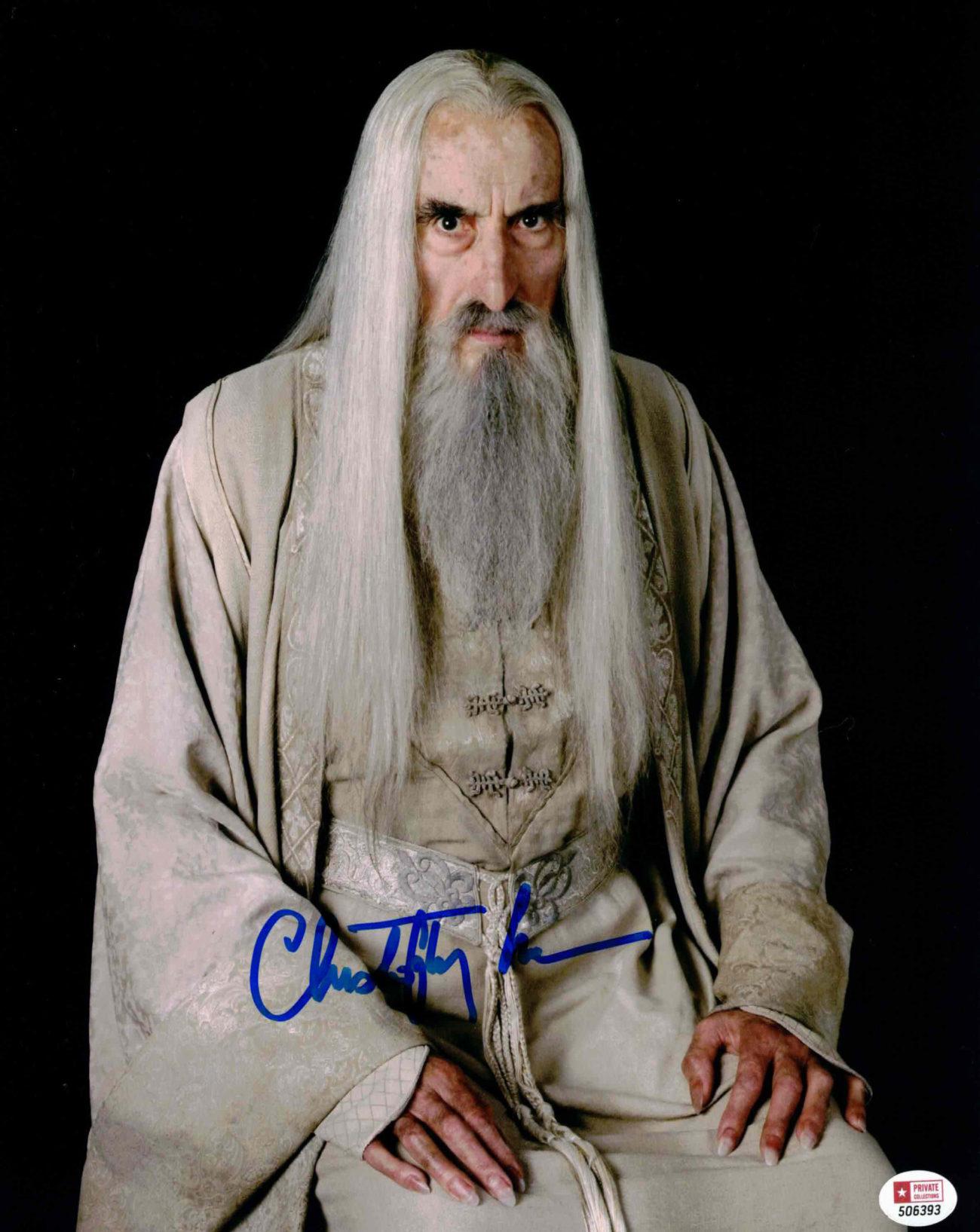 Christopher Lee / Saruman, Pán prstenů - autogram