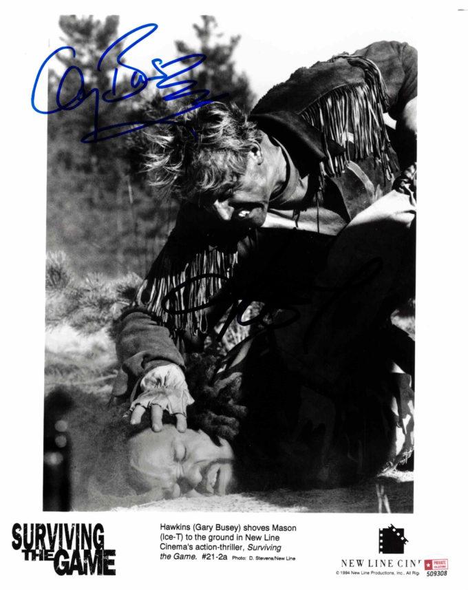 Ice-T & Gary Busey - autogram