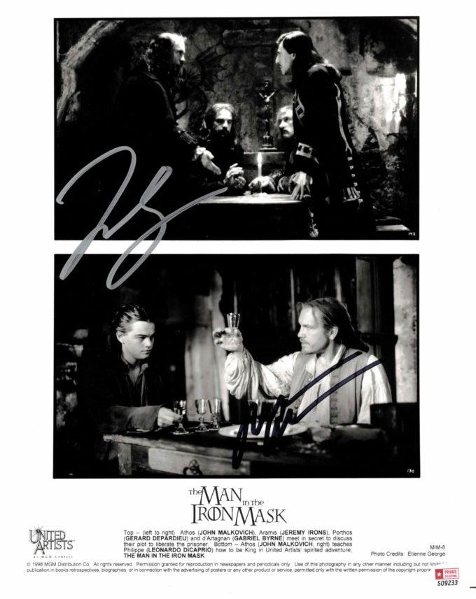 Leonardo DiCaprio & John Malkowich - autogram