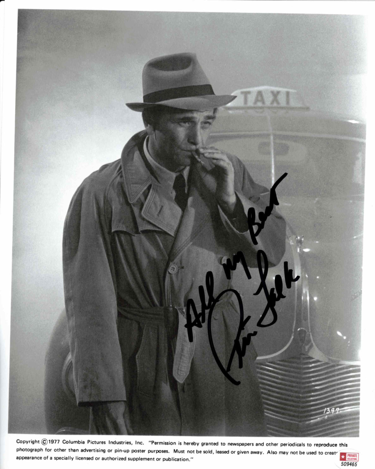 Peter Falk - autogram