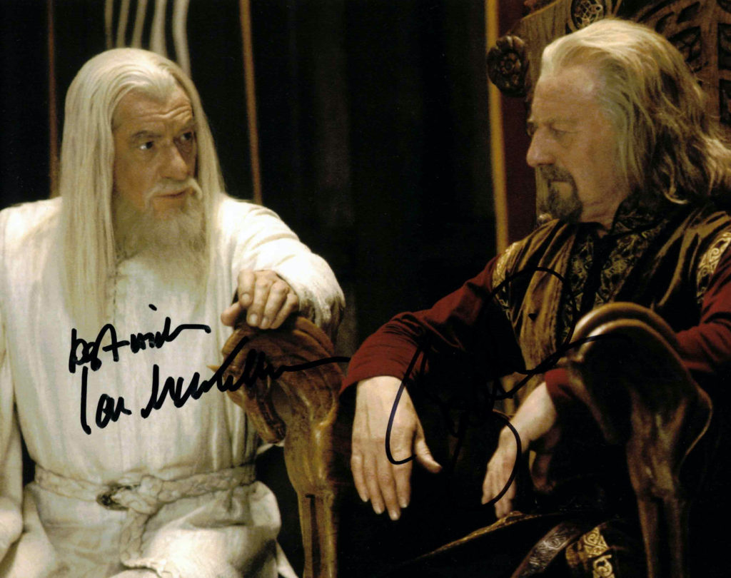 Ian McKellen & Bernard Hill / Pán Prstenů - autogram