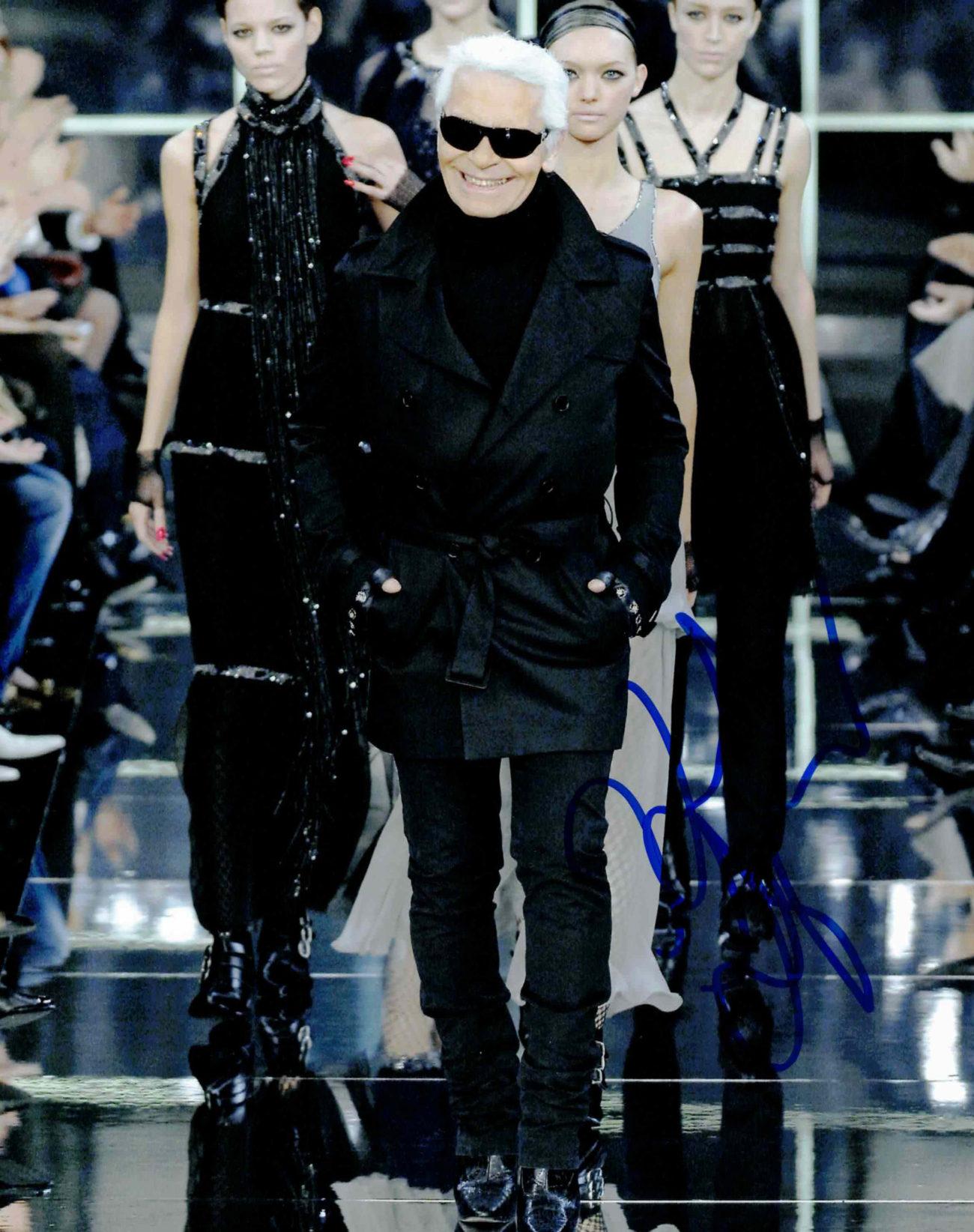 Karl Lagerfeld - autogram