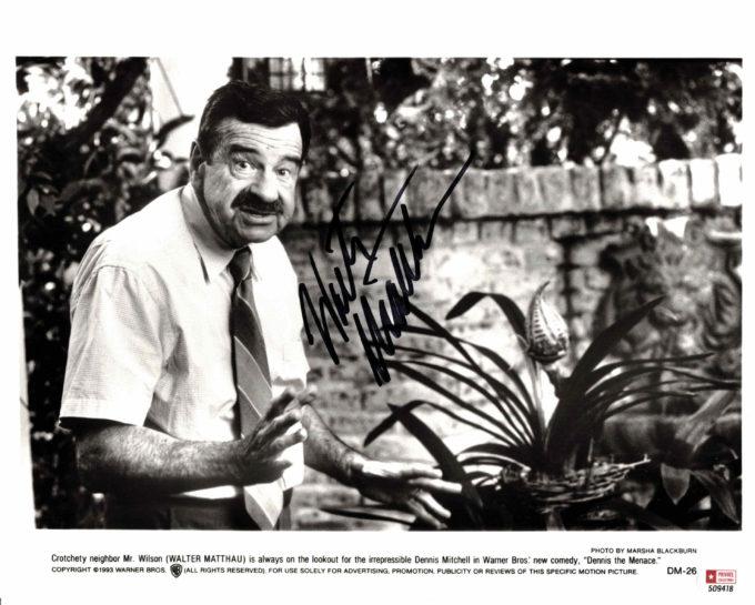Walter Matthau - autogram