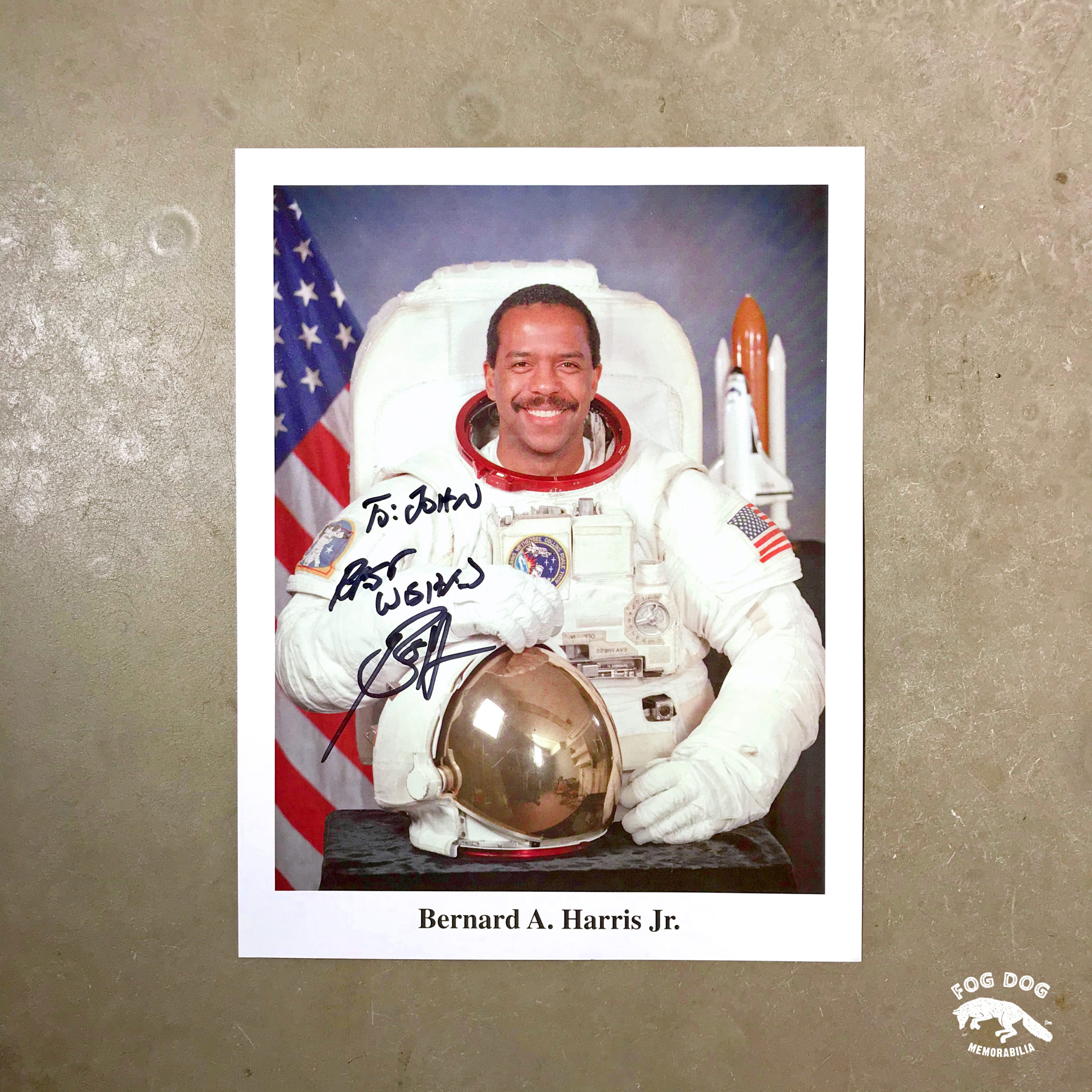 Autogram / astronaut Bernard Anthony Harris