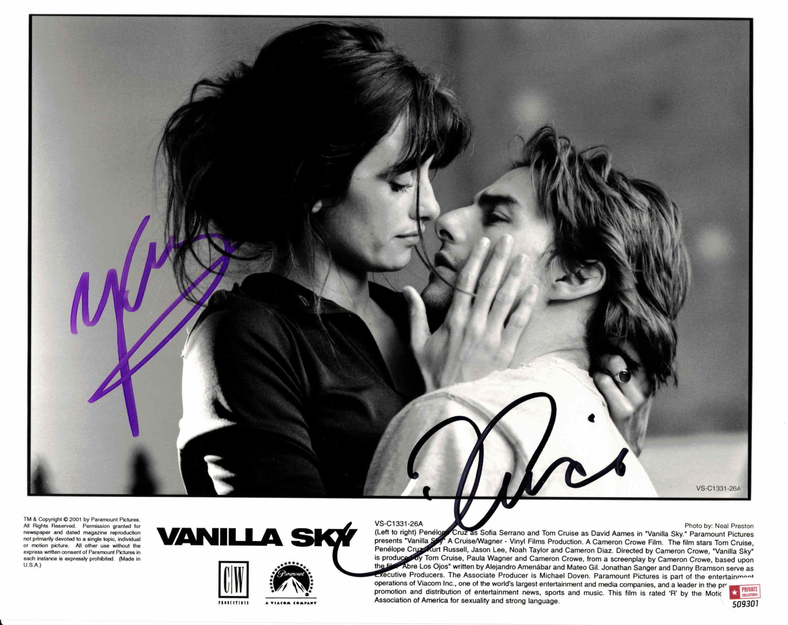 Tom Cruise & Penélope Cruz - autogram