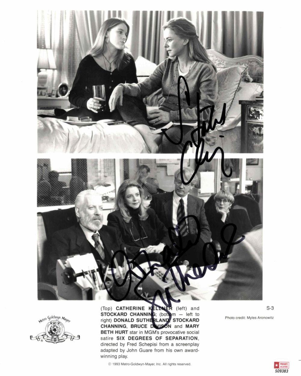 Donald Sutherland & Stockard Channing - autogram