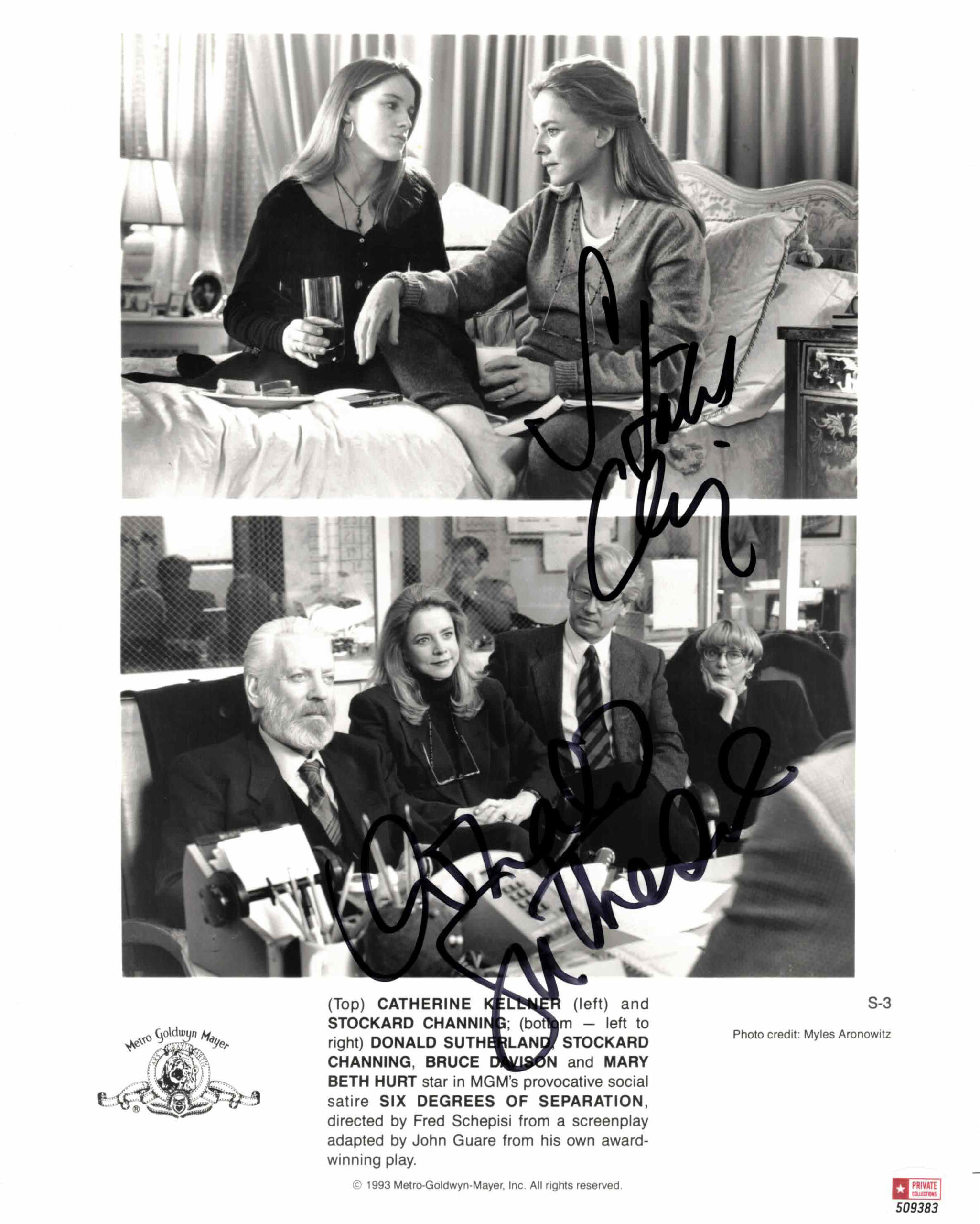 Donald Sutherland & Stockard Channing - autogram