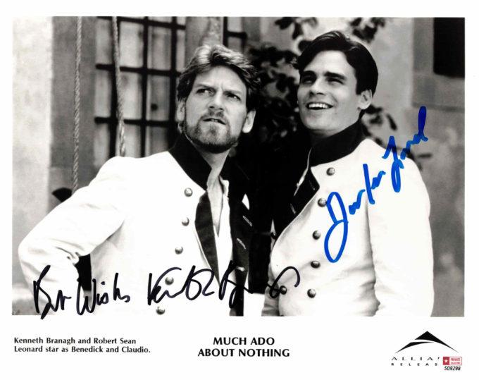 Kenneth Branagh & Robert Sean Leonard - autogram