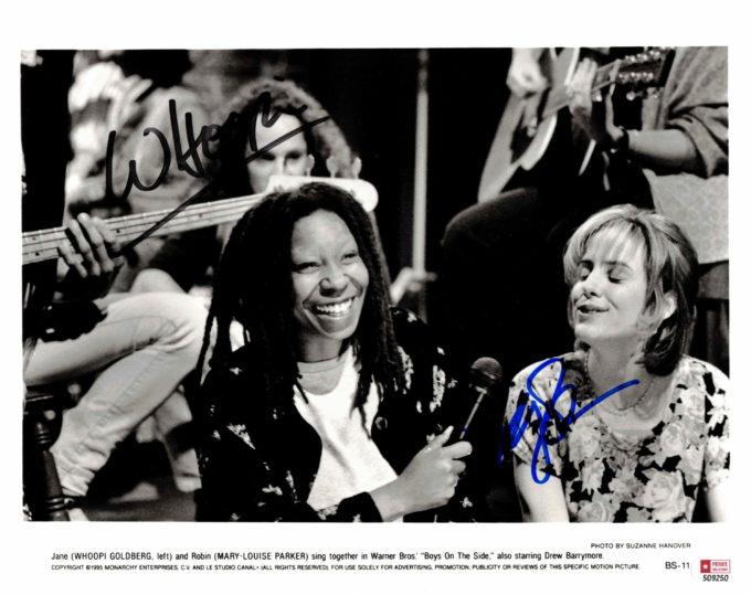 Whoopi Goldberg & Marry-Louise Parker - autogram