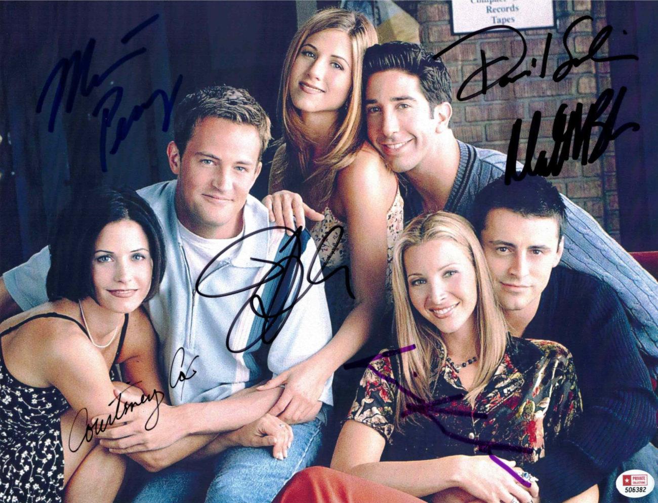 FRIENDS / PŘÁTELÉ - všech 6 hlavních herců - autogram