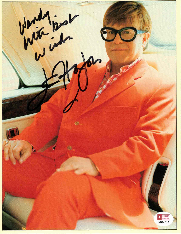 Elton John - autogram