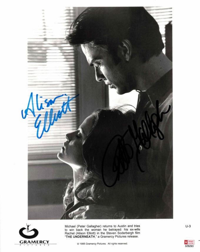 Peter Gallagher & Alison Elliott - autogram