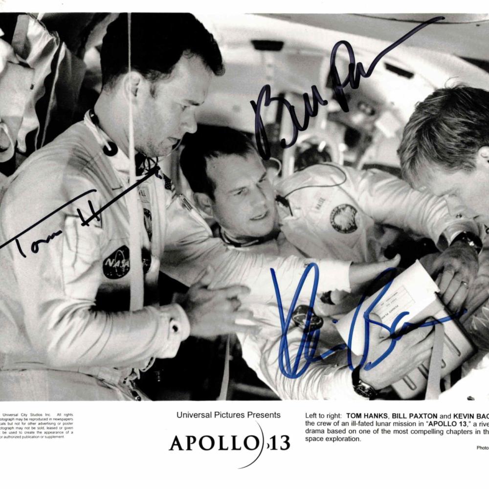 Tom Hanks, Kevin Bacon & Bill Paxton / Apollo 13 - autogram