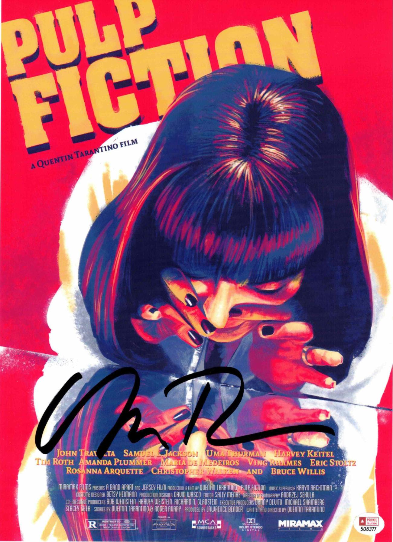 Uma Thurman / Pulp Fiction - autogram